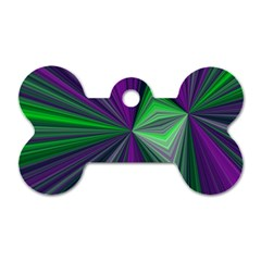 Abstract Dog Tag Bone (One Sided)