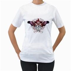 Vodka Eagles Womens  T-shirt (White)