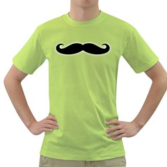 Moustache Mens  T Shirt (green)