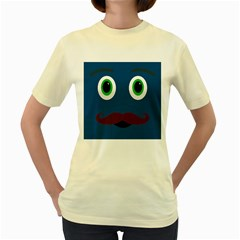 Unknown Character Guy  Womens  T-shirt (Yellow)