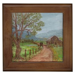 Amish Buggy Going Home  by Ave Hurley of ArtRevu ~ Framed Tile