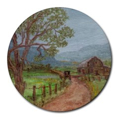 Amish Buggy Going Home  by Ave Hurley of ArtRevu ~ Round Mousepad