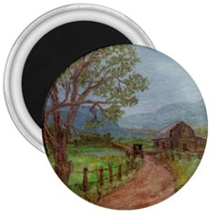 amish Buggy Going Home  By Ave Hurley Of Artrevu   3  Magnet