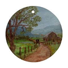 Amish Buggy Going Home  by Ave Hurley of ArtRevu ~ Ornament (Round)