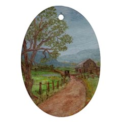 Amish Buggy Going Home  by Ave Hurley of ArtRevu ~ Ornament (Oval)