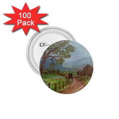 Amish Buggy Going Home  by Ave Hurley of ArtRevu ~ 1.75  Button (100 pack)
