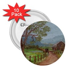Amish Buggy Going Home  by Ave Hurley of ArtRevu ~ 2.25  Button (10 pack)