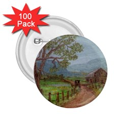 Amish Buggy Going Home  by Ave Hurley of ArtRevu ~ 2.25  Button (100 pack)