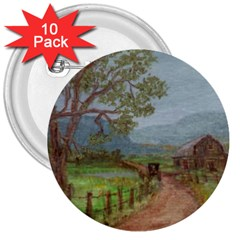 Amish Buggy Going Home  by Ave Hurley of ArtRevu ~ 3  Button (10 pack)