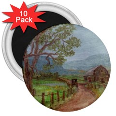 Amish Buggy Going Home  by Ave Hurley of ArtRevu ~ 3  Magnet (10 pack)