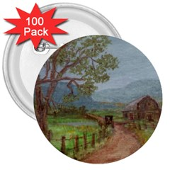 Amish Buggy Going Home  by Ave Hurley of ArtRevu ~ 3  Button (100 pack)