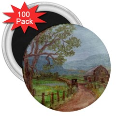 Amish Buggy Going Home  by Ave Hurley of ArtRevu ~ 3  Magnet (100 pack)