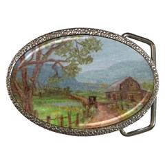 Amish Buggy Going Home  by Ave Hurley of ArtRevu ~ Belt Buckle