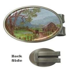 Amish Buggy Going Home  by Ave Hurley of ArtRevu ~ Money Clip (Oval)