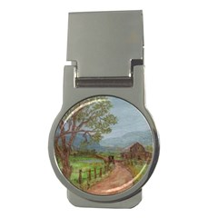 amish Buggy Going Home  By Ave Hurley Of Artrevu   Money Clip (round)