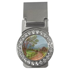 amish Buggy Going Home  By Ave Hurley Of Artrevu   Money Clip (cz)