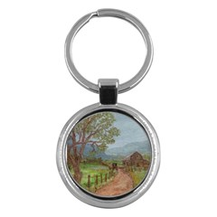 Amish Buggy Going Home  by Ave Hurley of ArtRevu ~ Key Chain (Round)