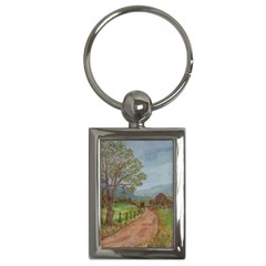 amish Buggy Going Home  By Ave Hurley Of Artrevu   Key Chain (rectangle)