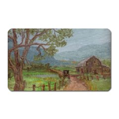 amish Buggy Going Home  By Ave Hurley Of Artrevu   Magnet (rectangular)