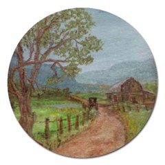 Amish Buggy Going Home  by Ave Hurley of ArtRevu ~ Magnet 5  (Round)