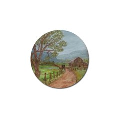 amish Buggy Going Home  By Ave Hurley Of Artrevu   Golf Ball Marker