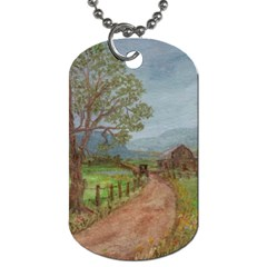 amish Buggy Going Home  By Ave Hurley Of Artrevu   Dog Tag (two Sides)