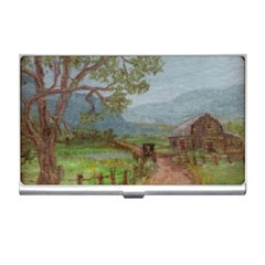 Amish Buggy Going Home  by Ave Hurley of ArtRevu ~ Business Card Holder