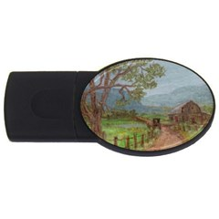 Amish Buggy Going Home  by Ave Hurley of ArtRevu ~ USB Flash Drive Oval (1 GB)
