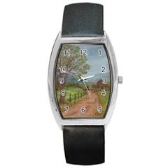 Amish Buggy Going Home  by Ave Hurley of ArtRevu ~ Barrel Style Metal Watch