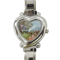 Amish Buggy Going Home  by Ave Hurley of ArtRevu ~ Heart Italian Charm Watch