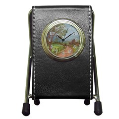 Amish Buggy Going Home  by Ave Hurley of ArtRevu ~ Pen Holder Desk Clock