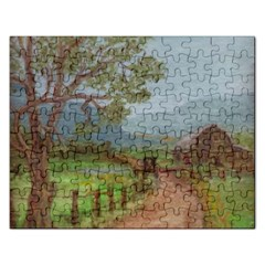 Amish Buggy Going Home  by Ave Hurley of ArtRevu ~ Jigsaw Puzzle (Rectangular)