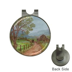 Amish Buggy Going Home  by Ave Hurley of ArtRevu ~ Golf Ball Marker Hat Clip