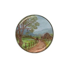 Amish Buggy Going Home  by Ave Hurley of ArtRevu ~ Hat Clip Ball Marker (4 pack)
