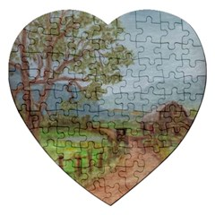 Amish Buggy Going Home  by Ave Hurley of ArtRevu ~ Jigsaw Puzzle (Heart)