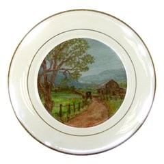 Amish Buggy Going Home  by Ave Hurley of ArtRevu ~ Porcelain Plate