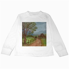 Amish Buggy Going Home  by Ave Hurley of ArtRevu ~ Kids Long Sleeve T-Shirt