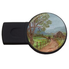 Amish Buggy Going Home  by Ave Hurley of ArtRevu ~ USB Flash Drive Round (4 GB)