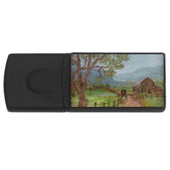 Amish Buggy Going Home  by Ave Hurley of ArtRevu ~ USB Flash Drive Rectangular (4 GB)