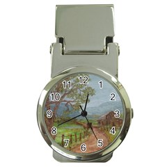 amish Buggy Going Home  By Ave Hurley Of Artrevu   Money Clip Watch