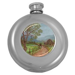 amish Buggy Going Home  By Ave Hurley Of Artrevu   Hip Flask (5 Oz)