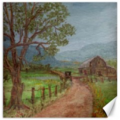 Amish Buggy Going Home  by Ave Hurley of ArtRevu ~ Canvas 12  x 12