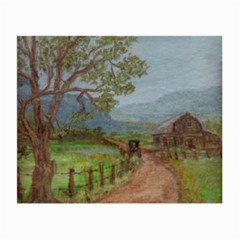 amish Buggy Going Home  By Ave Hurley Of Artrevu   Small Glasses Cloth (2 Sides)