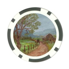 Amish Buggy Going Home  by Ave Hurley of ArtRevu ~ Poker Chip Card Guard