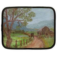 amish Buggy Going Home  By Ave Hurley Of Artrevu   Netbook Case (large)