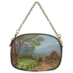 amish Buggy Going Home  By Ave Hurley Of Artrevu   Chain Purse (one Side)