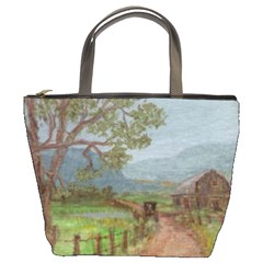 amish Buggy Going Home  By Ave Hurley Of Artrevu   Bucket Bag