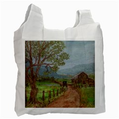 amish Buggy Going Home  By Ave Hurley Of Artrevu   Recycle Bag (two Side)