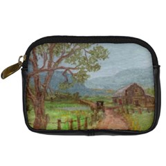 Amish Buggy Going Home  by Ave Hurley of ArtRevu ~ Digital Camera Leather Case