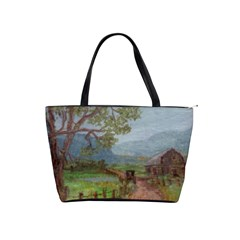 Amish Buggy Going Home  by Ave Hurley of ArtRevu ~ Classic Shoulder Handbag